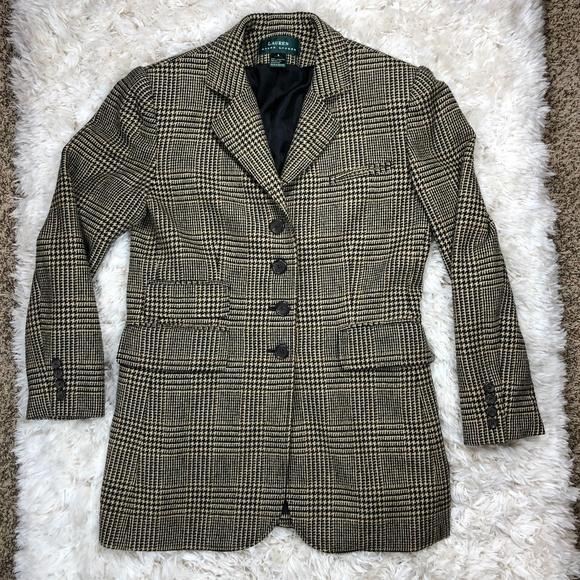 Lauren Ralph Lauren Jackets & Blazers - Lauren Ralph Lauren Houndstooth Blazer Jacket Sz 8